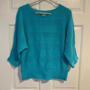 Liz Claiborne 3/4 Sleeve Crew Neck Knit Sweater